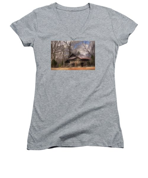 Women's V-Neck T-Shirt (Junior Cut) featuring the photograph Curing Time by Benanne Stiens