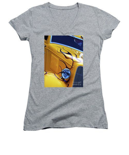 Custom 1934  Ford Artwork Women's V-Neck T-Shirt (Junior Cut) by Stephen Melia