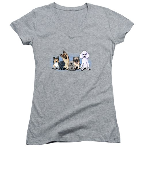 Custom Breed4ginnie Print Women's V-Neck T-Shirt