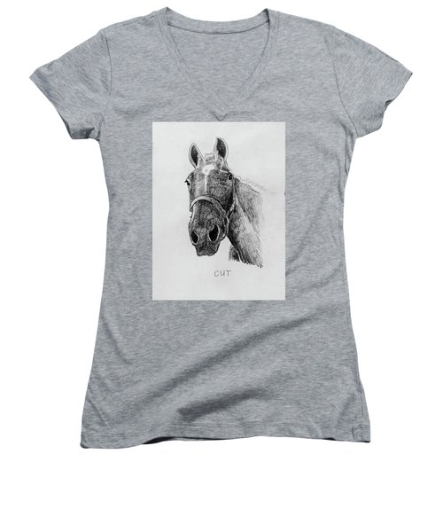 Cut The Horse Women's V-Neck (Athletic Fit)