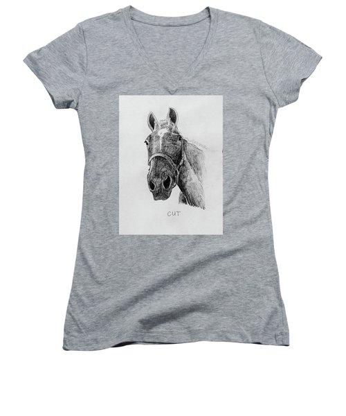 Cut The Horse Women's V-Neck T-Shirt