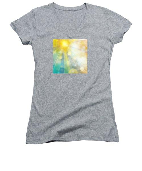 Cute Summer Women's V-Neck T-Shirt (Junior Cut) by Atiketta Sangasaeng