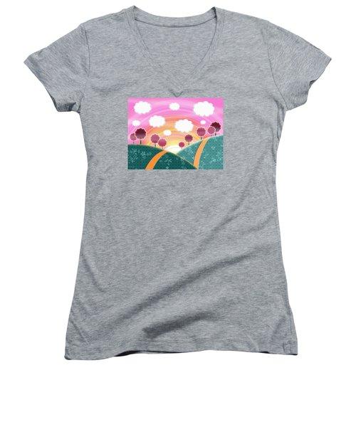 Cuteness Overload Women's V-Neck T-Shirt (Junior Cut)