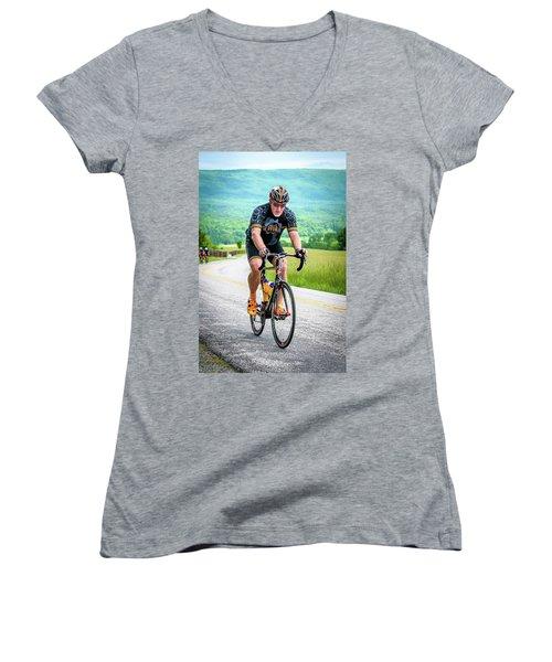 Cyclist Women's V-Neck T-Shirt