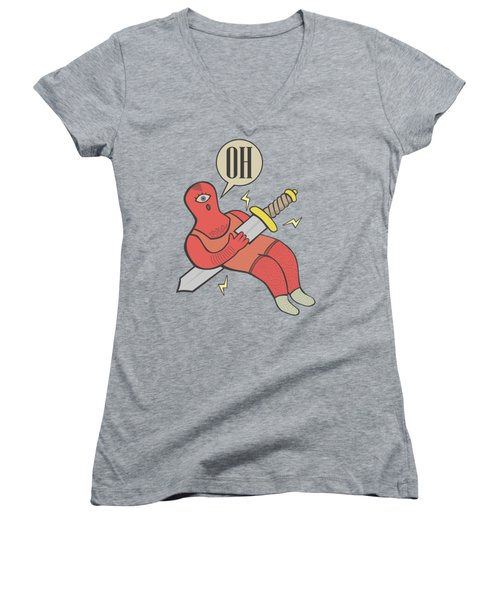 Cyclop Women's V-Neck T-Shirt (Junior Cut) by LE BERRE Jean-Baptiste