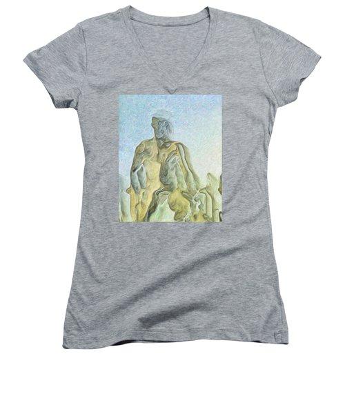 Cyclops Women's V-Neck T-Shirt (Junior Cut) by Joaquin Abella