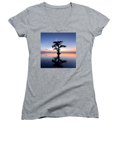 Cypress Tree Women's V-Neck T-Shirt