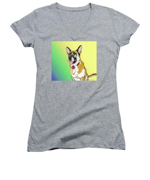 Czaki In Digi Women's V-Neck T-Shirt (Junior Cut) by Ania M Milo