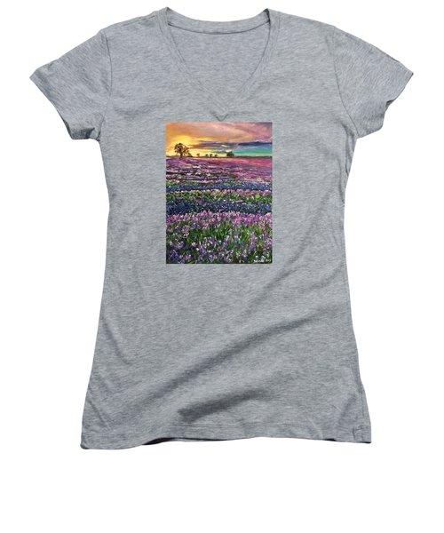 D R E A M S Women's V-Neck T-Shirt (Junior Cut) by Belinda Low