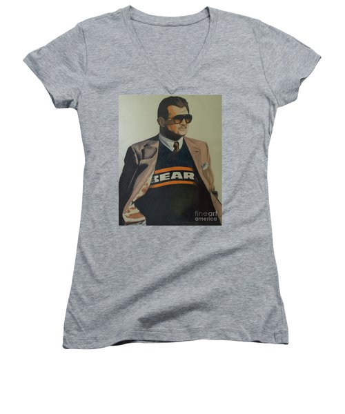 Da Coach Ditka Women's V-Neck T-Shirt