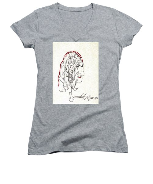 Da Vinci Drawing Women's V-Neck