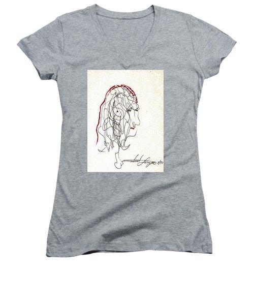 Da Vinci Drawing Women's V-Neck (Athletic Fit)