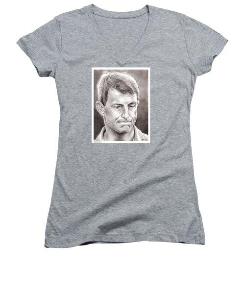 Dabo Swinney Women's V-Neck T-Shirt (Junior Cut) by Greg Joens