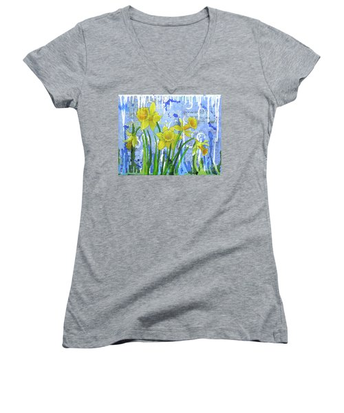 Daffodil Ding Dongs Women's V-Neck