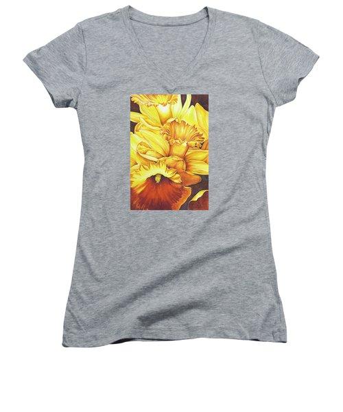 Daffodil Drama Women's V-Neck