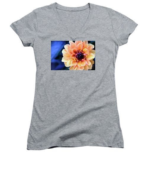 Dahlia Beauty Women's V-Neck T-Shirt (Junior Cut) by Debby Pueschel