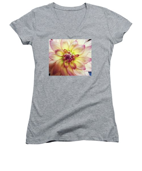 Dahlia Delight Women's V-Neck T-Shirt