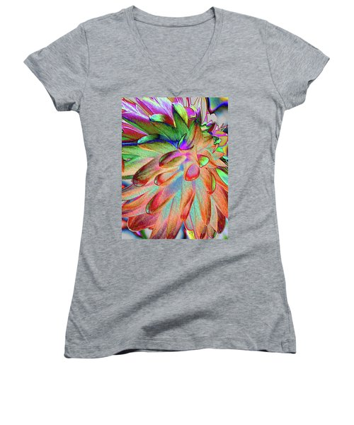 Dahlia Fantasy Women's V-Neck T-Shirt