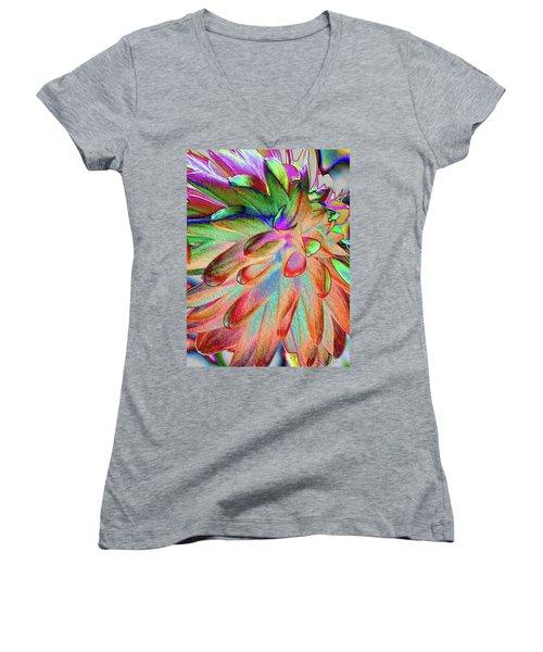 Dahlia Fantasy Women's V-Neck T-Shirt