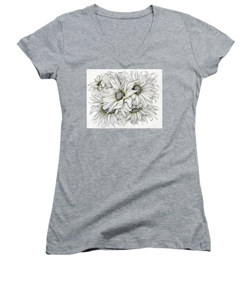 Sunflowers Pencil Women's V-Neck