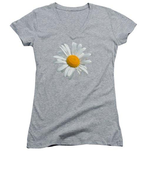 Daisy Women's V-Neck T-Shirt (Junior Cut) by Scott Carruthers