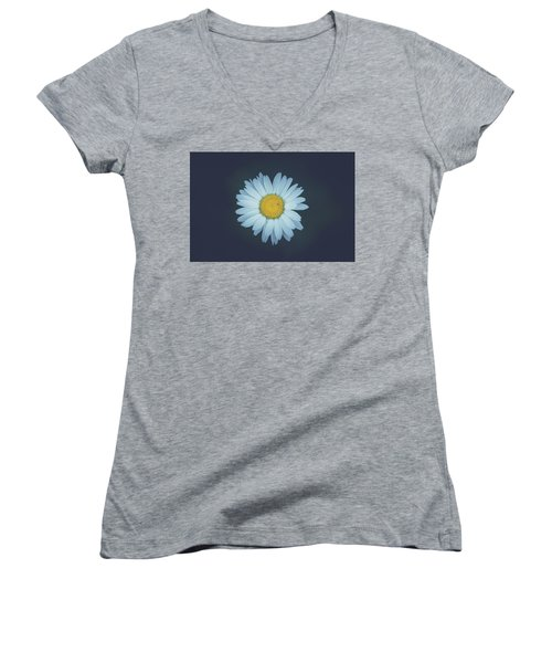 Women's V-Neck T-Shirt (Junior Cut) featuring the photograph Daisy  by Shane Holsclaw