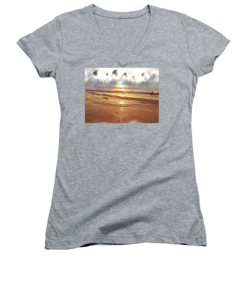 Women's V-Neck T-Shirt (Junior Cut) featuring the photograph Dali, Here In Brazil by Beto Machado