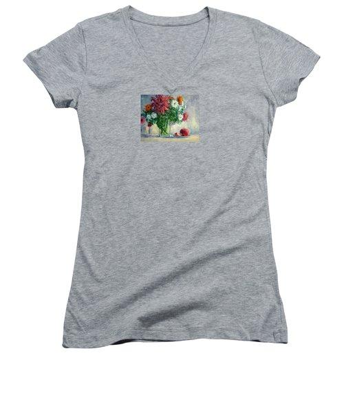 Dalias Women's V-Neck T-Shirt (Junior Cut)