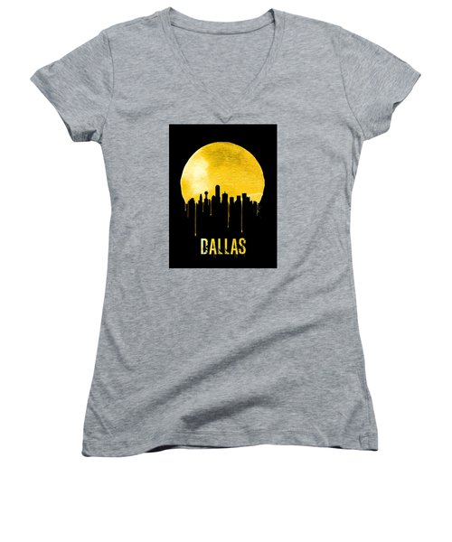 Dallas Skyline Yellow Women's V-Neck T-Shirt
