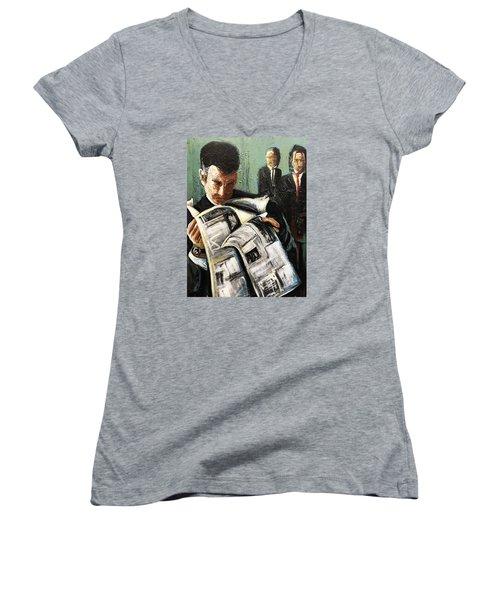 Damage Report Women's V-Neck T-Shirt