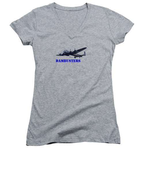 Women's V-Neck T-Shirt (Junior Cut) featuring the photograph Dambusters by Scott Carruthers