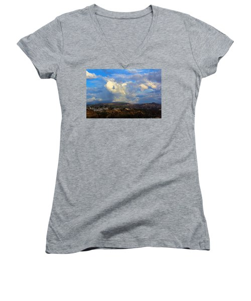 Dana Point View From Cliff Women's V-Neck