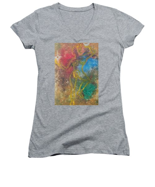 Dance Of Creation Women's V-Neck (Athletic Fit)