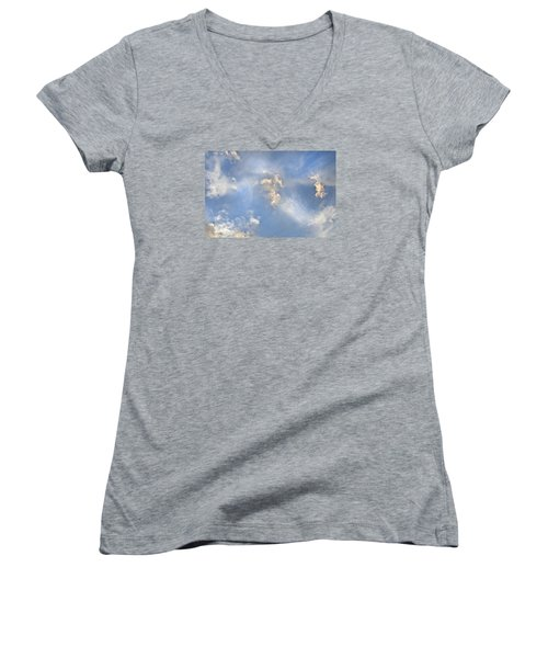 Dancing Clouds Women's V-Neck (Athletic Fit)
