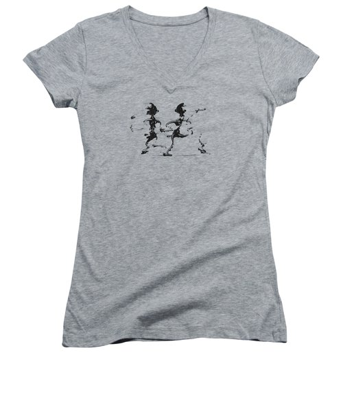 Dancing Couple 3 Women's V-Neck (Athletic Fit)