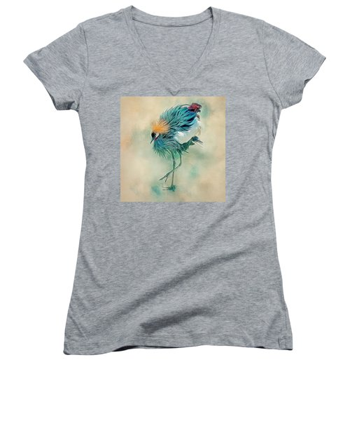 Dancing Crane Women's V-Neck T-Shirt