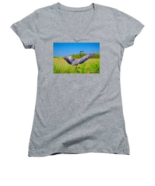 Dancing In The Glades Women's V-Neck (Athletic Fit)