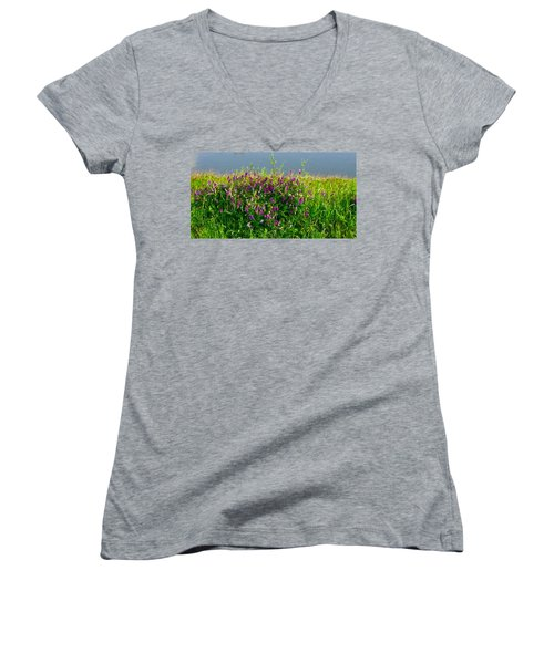 Dancing In The Meadow Women's V-Neck T-Shirt