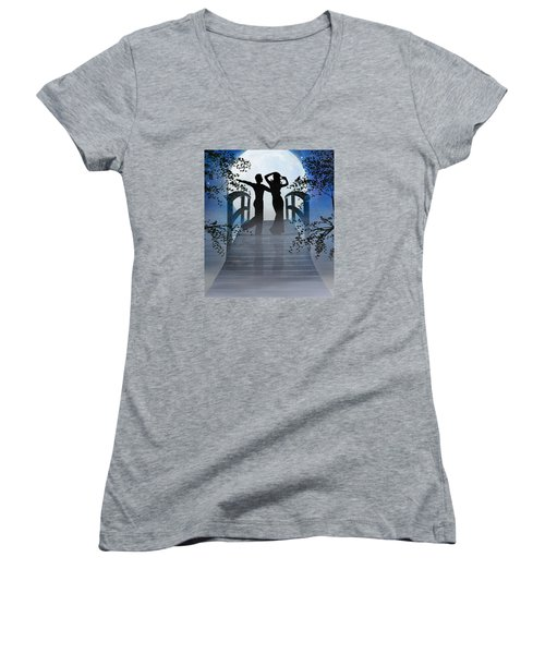 Dancing In The Moonlight Women's V-Neck (Athletic Fit)