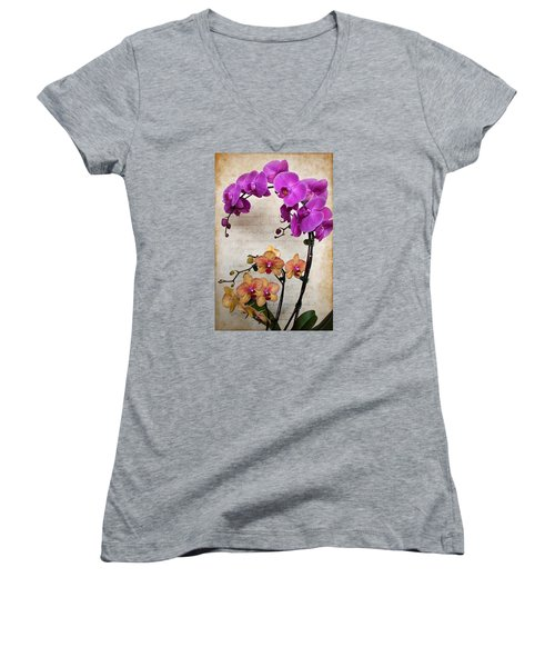 Dancing Orchids Women's V-Neck