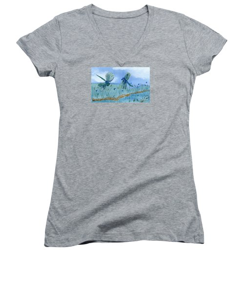 Dancing Skies Women's V-Neck T-Shirt