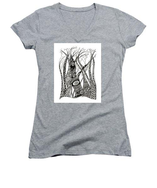 Dancing Trees Women's V-Neck