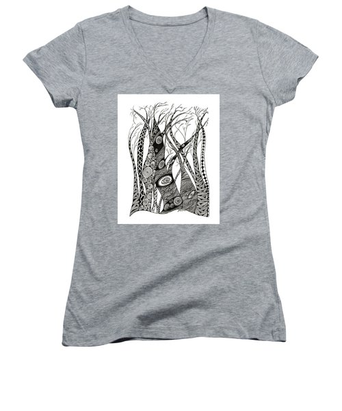 Dancing Trees Women's V-Neck (Athletic Fit)