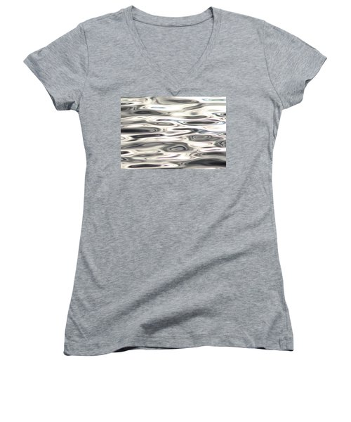 Women's V-Neck T-Shirt (Junior Cut) featuring the photograph Dancing With Light by Cathie Douglas