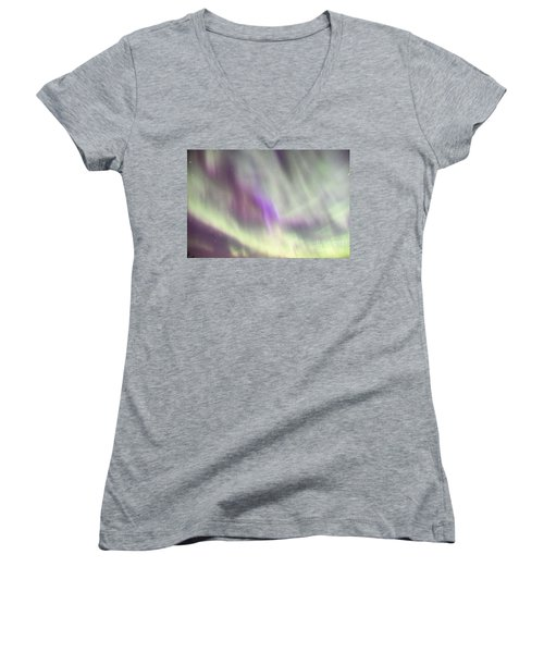 Women's V-Neck T-Shirt (Junior Cut) featuring the photograph Dancing With The Stars by Larry Ricker