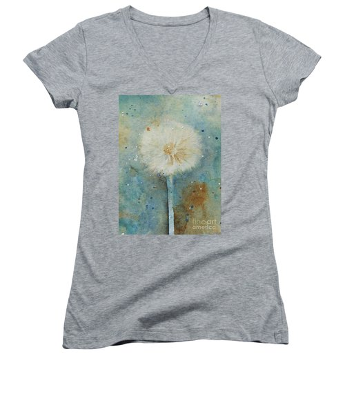 Dandelion Clock 2 Women's V-Neck T-Shirt