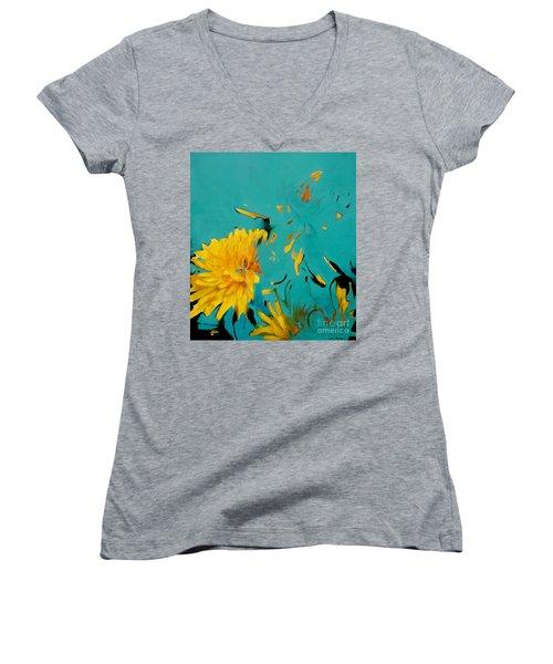 Dandelion Summer Women's V-Neck T-Shirt