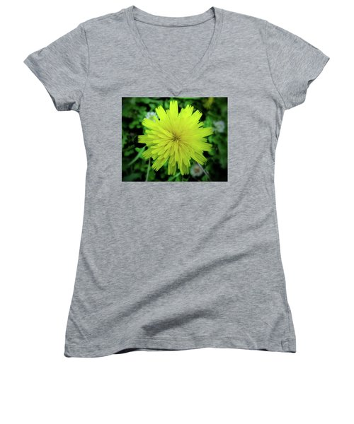 Dandelion Symmetry Women's V-Neck (Athletic Fit)