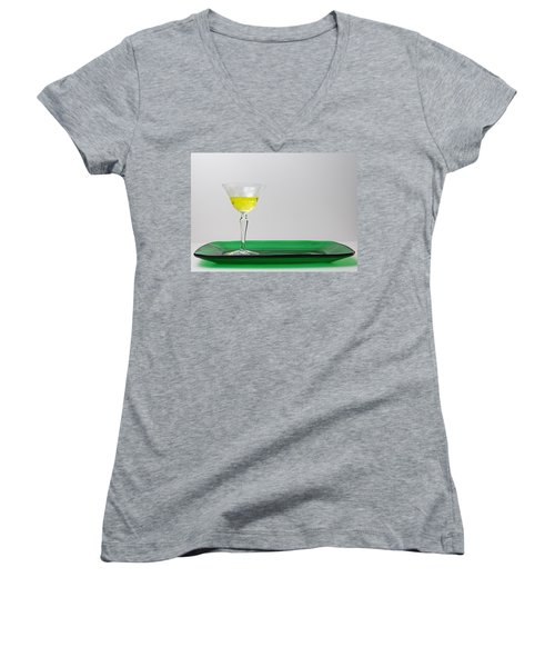 Women's V-Neck T-Shirt (Junior Cut) featuring the photograph Dandelion Wine by Susan Capuano