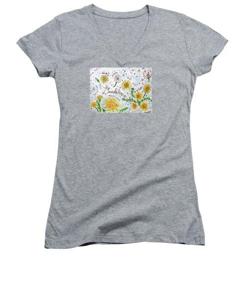 Dandelions Women's V-Neck